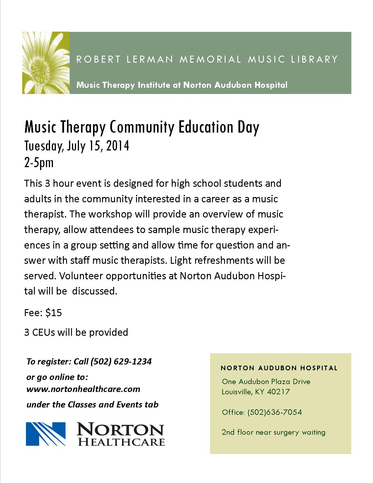 July Music Therapy Day