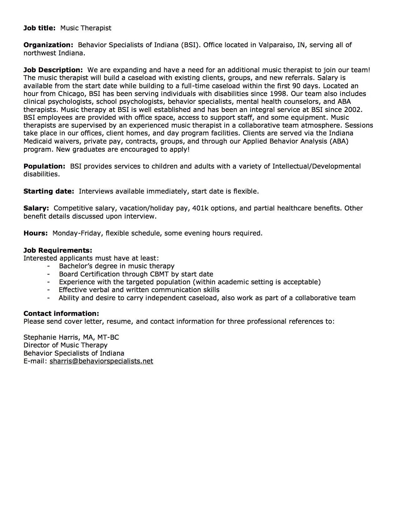 MT Job Posting 4-17